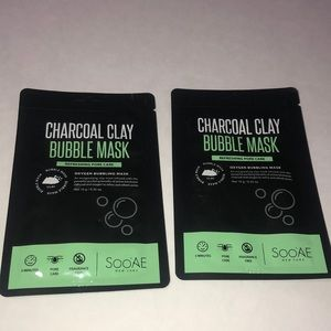 2 Charcoal Clay Bubble Mask